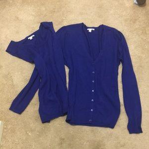 Halogen size m, button down with inside vest
